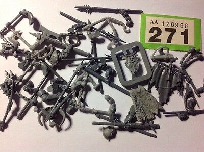 Warhammer Fantasy / Age Of Sigmar, Hordes Warriors Chaos Bits Part Spares  #271
