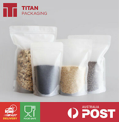 Matte Frost Frosted Bag Stand Up Pouches 150g 250g 500g 750g Ziplock Tear Notch