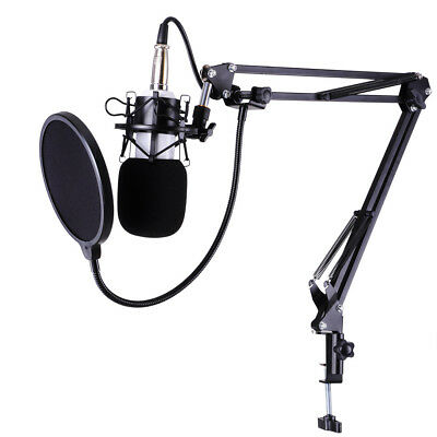 Condenser Microphone Kit - Studio Recording Shock Mount Pop Filter Stand Holder