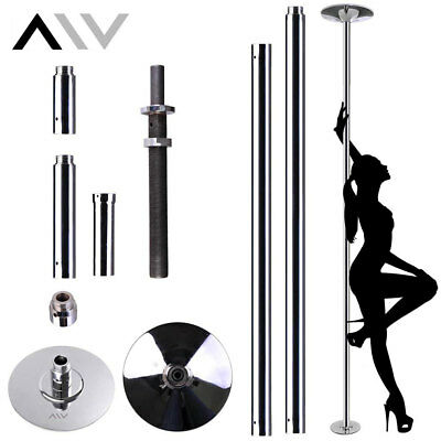 AW Dance Pole - 45mm Portable Static Spinning Gym Exercise with 2 Extension Kit
