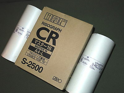 Risograph S-2500 2 Rolls CRA4-L Masters for Models CR1610, TR1510 Duplicators