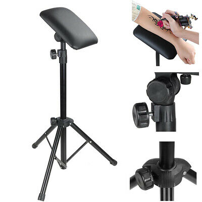 Tattoo Arm Leg Rest - Adjustable Tripod Stand Pad Portable Legrest Sponge Supply