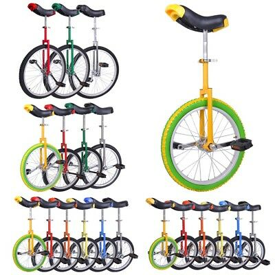 "Unicycle - 16 18 20 24"" Wheel Uni Cycle Balance Fun Bike Fitness Scooter Circus"