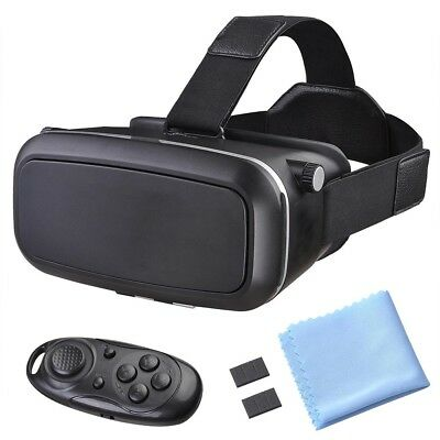 VR Headset - 3D Virtual Reality Glasses Bluetooth Remote Control Android & IOS