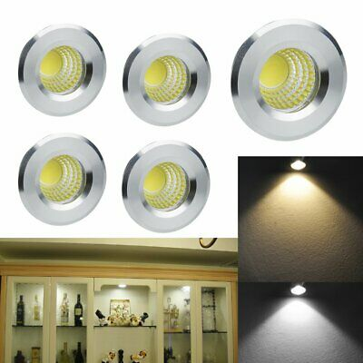 5x 3W Modern LED Recessed Small Cabinet Mini Spot Lamp Ceiling Downlight