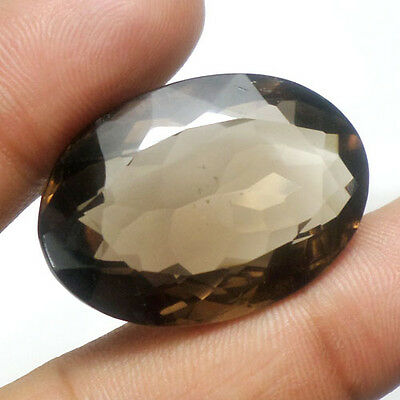 EXCLUSIVE 64.70 Ct Natural Untreated Brown Oval Faceted Smoky Quartz For Pendant