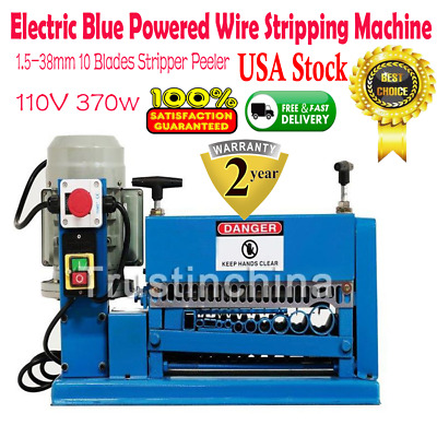 Powered Wire Stripping Machine 1.5-38mm 10 Blades Stripper Peeler Metal Cable