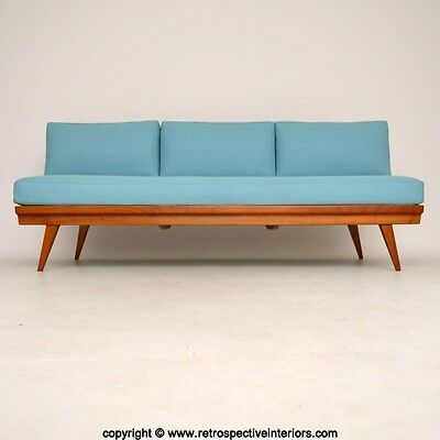 RETRO SOFA BED / DAYBED BY WILHELM KNOLL VINTAGE 1950's - NEW WOOL KVADRAT UPHOL
