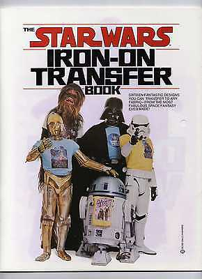 RARE ICONIC 1977 STAR WARS Iron-On Transfer Book.. N/M COMPLETE!
