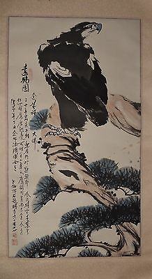 Chinese Verticle Painting - Eagle 遠瞻圖–王賛倫