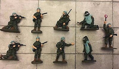 1/72 20Mm Lot 9 Modern Wargame Spanish Army United Nations (Onu) Painted Figures