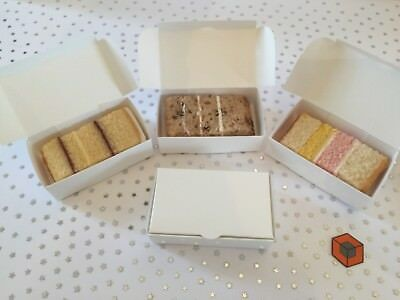 100 White BUDGET Party Single Slice CAKE favour Boxes inc Free Postage. 💯 £9.46