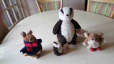 COUNTRY COMPANIONS GORDON FRASER SOFT TOYS X 4   Rabbit Mouse & Badgers