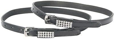 Harry's Horse Crystal Leather Spur Straps | Black