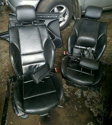 BMW E46 3 Series Saloon Black Leather Seats With Door Cards