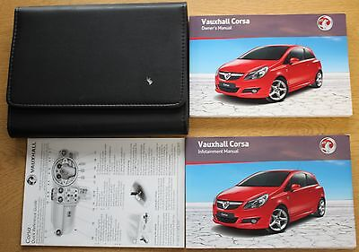 Vauxhall Corsa D Owners Manual Handbook Wallet 2006-2011 Pack 9699