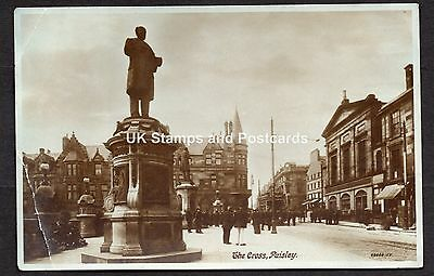 1914 The Cross Paisley - George Aitken Clark Statue Etc Posted Card As Scanned