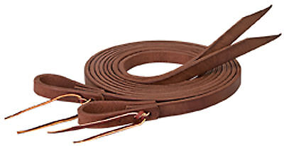 "BNWT Weaver ProTack Oiled Leather Split Reins - 3/4"" x 8' Brown"