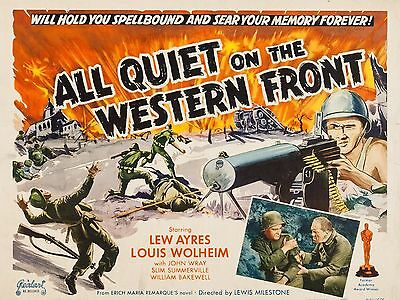 """All Quiet on the western front 16"""" x 12"""" Reproduction Movie Poster Photograph 3"""
