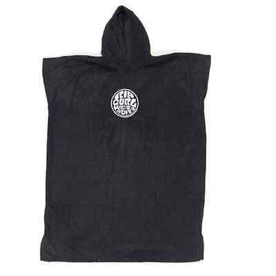 Rip Curl Wetty Hooded Towel Mens Unisex Surf Changing Robe (Black)