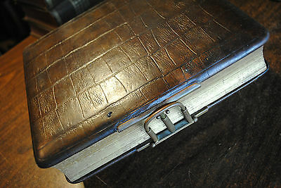 Early Leather Photo Album w/Clasp - Good+