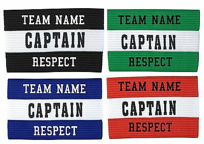 CAPTAIN ARMBAND with TEAM NAME and RESPECT - Size adult and junior available