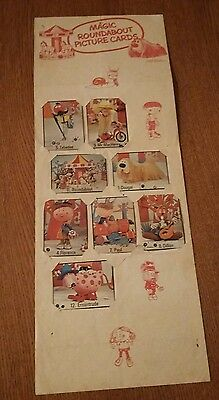 Magic Roundabout Picture Cards Wall chart + cards - very rare 1960s or early 70s
