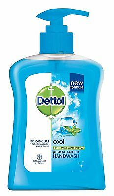 Dettol Liquid Soap Cool Pump - 250 ml Fighting Germs Compared to Ordinary