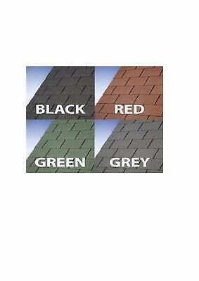 Felt Roofing Fibreglass Shingles - Square - 3m2 - 21 tiles - RED / GREEN / BLACK
