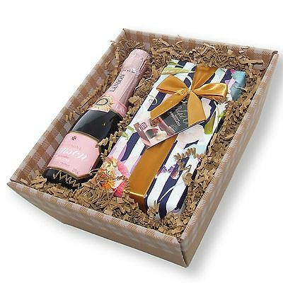 Mini Lanson Rose Champagne and Chocolates in a Tray