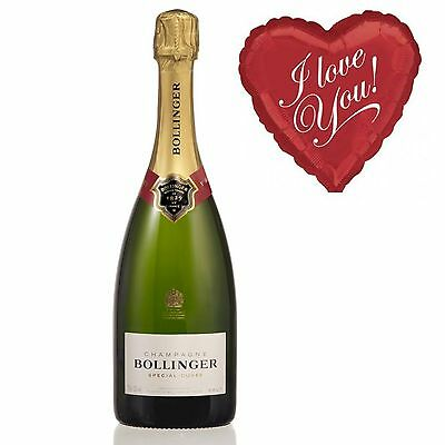 Bollinger Brut Champagne and I Love You Balloon