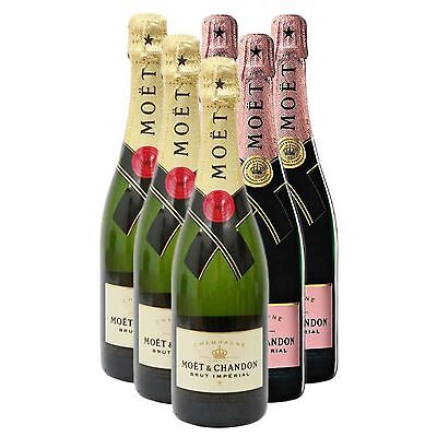 Mixed Case of Moet and Chandon (6x75cl)