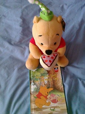 Winnie The Pooh Teddy and Book New