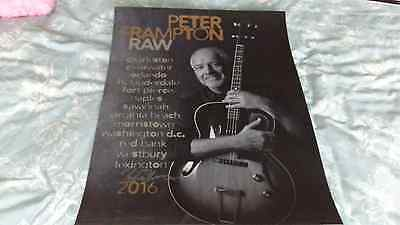 PETER FRAMPTON (Humble Pie) Genuine Signed 2016 Tour Poster