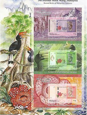 Malaysia 2012 Pair Of Currency Sheetlets U/m N/h Lot 111L