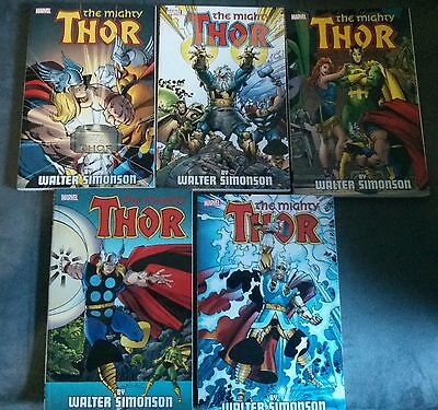 Lot 5 TPB The Mighty Thor by Walter Simonson 1,2,3,4,5 Intégrale run