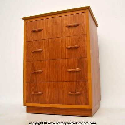 RETRO TEAK CHEST OF DRAWERS BY LADDERAX VINTAGE 1960's