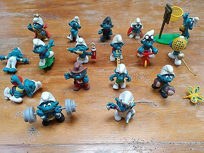1970's & 80's SCHLEICH PEYO SMURFS (17 in total Some Very rare!)