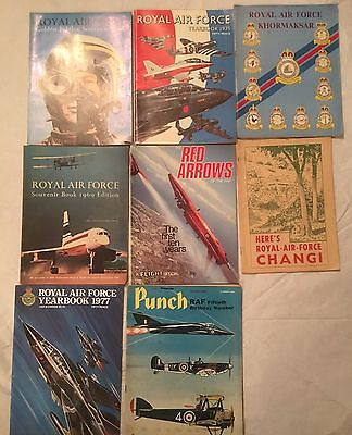 ROYAL AIR FORCE yearbooks / Punch / Red arrows etc - 8 magazines