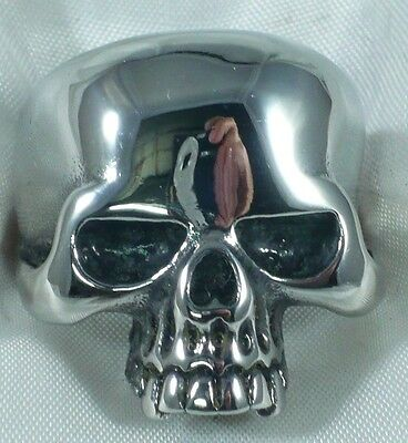 Anello Teschio In Argento 925  Sterling Silver Keith Richard Skull Ring 1