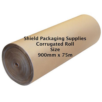 Strong Corrugated Cardboard Paper Roll Size 900mm x 75m