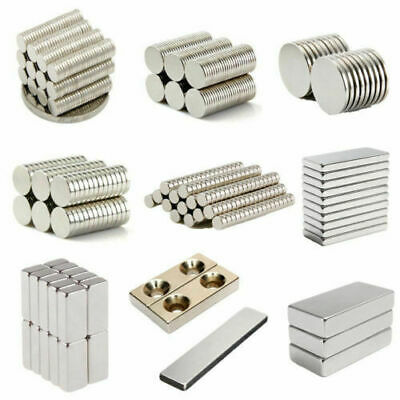 1/20/50/100Pcs Super Strong Block Round Rare Earth  Neodymium Fridge Magnets N35
