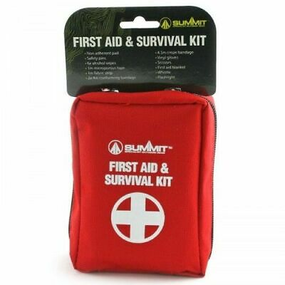 Summit Portable Light First Aid and Survival Kit Camping Hiking Travel