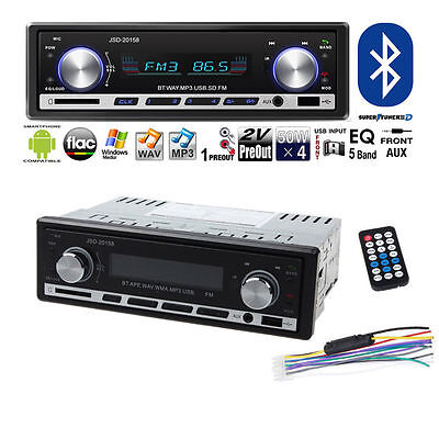 Car In-Dash FM Radio Stereo Audio Receiver Bluetooth MP3 Player USB Aux Input HL