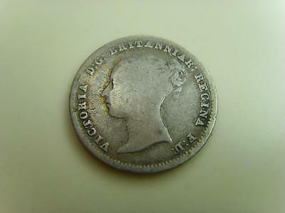 1840 Silver Groat Fourpence Queen Victoria British Coin Great Britain Four Pence