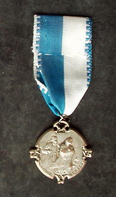 """""""GLORY TO THE SERBS"""", French WW1 medal, silvered bronze, VG Cond"""
