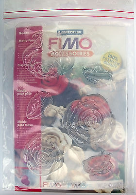 Fimo Clay Mould - Roses & Leaves