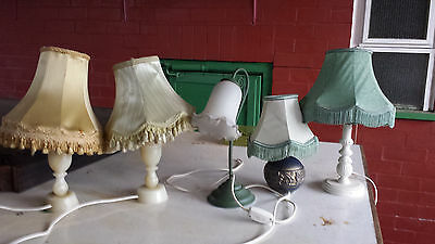 Small Table Lamps. Onyx, Carved Wood. Ceramic. Retro. Five off.