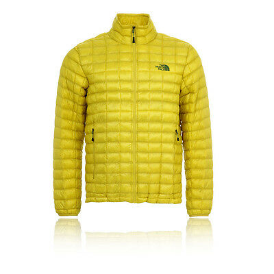The North Face Thermoball Uomo Giallo Zip Manica Lunga Giacca Top