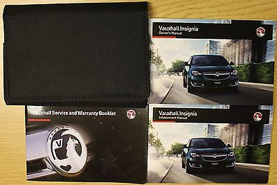 Vauxhall Insignia Owners Manual Handbook 2013-2016 Service Book Infotainm Pack